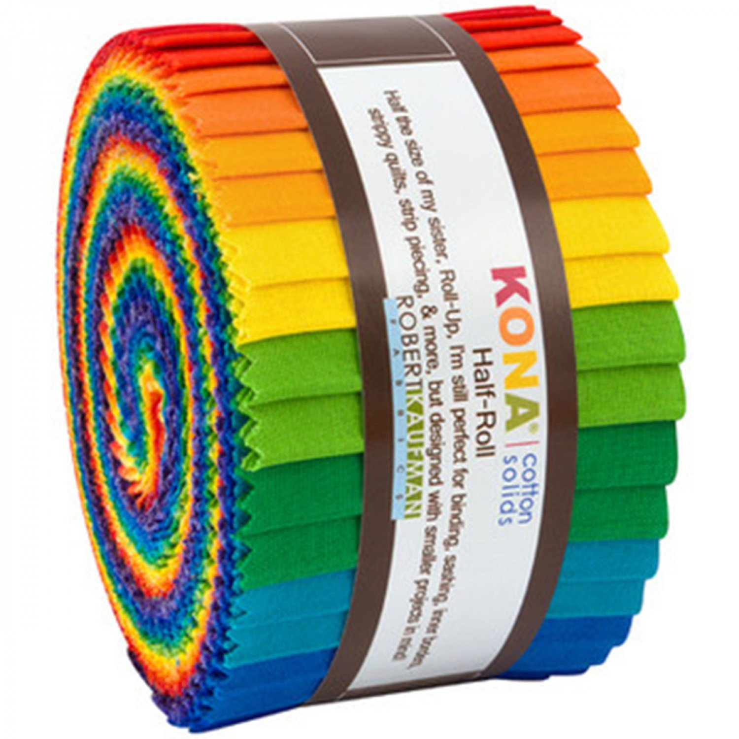 2-1/2in Strips Roll Up Kona BRIGHT RAINBOW PALETTE 24 PCS HR 156 24