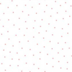 WHITE/PINK SWEET PEA SIMPLE DOTS FLANNEL F8129 WP