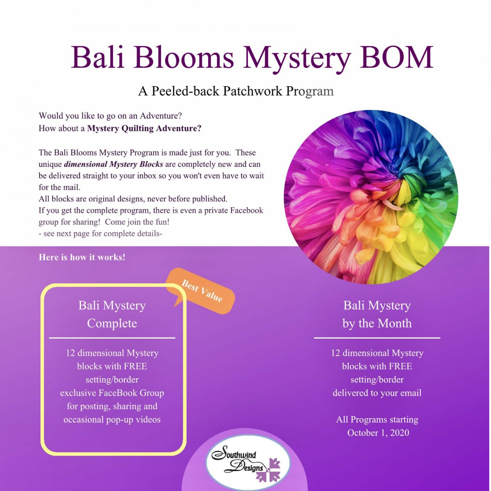 Bali Blooms Mystery BOM