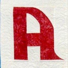 Single Alphabet Soup Card - A