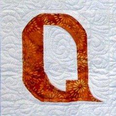 Single Alphabet Soup Card - Q