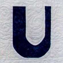 Single Alphabet Soup Card - U