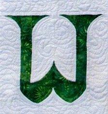 Single Alphabet Soup Card - W