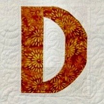 Single Alphabet Soup Card - D
