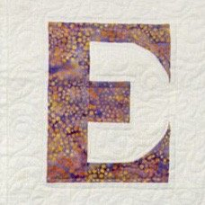 Single Alphabet Soup Card - E