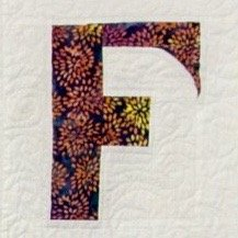 Single Alphabet Soup Card - F
