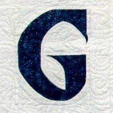 Single Alphabet Soup Card - G
