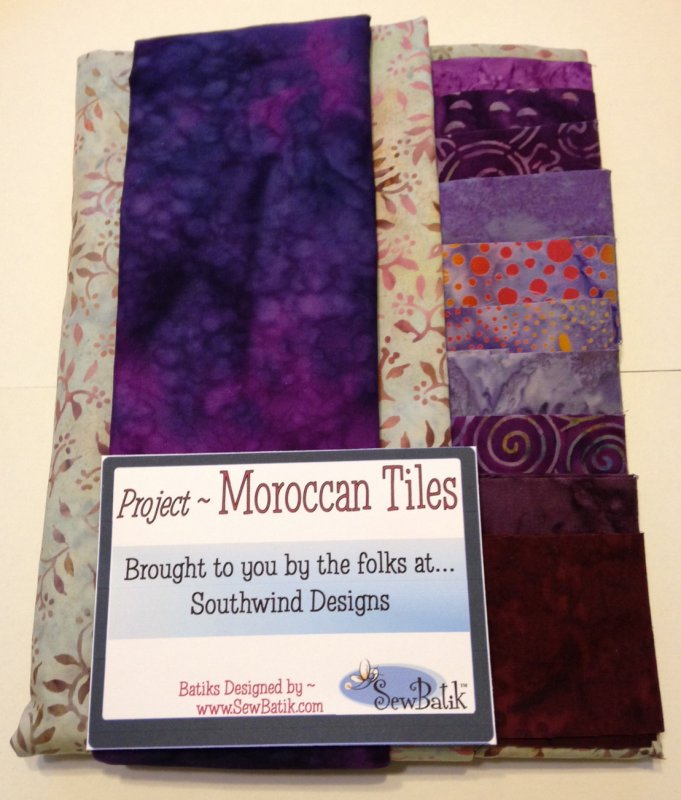 Moroccan Tiles - Purple w/Grey and Purple Pre-cuts