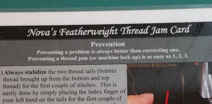 Nova's Featherweight Thread Jam Card