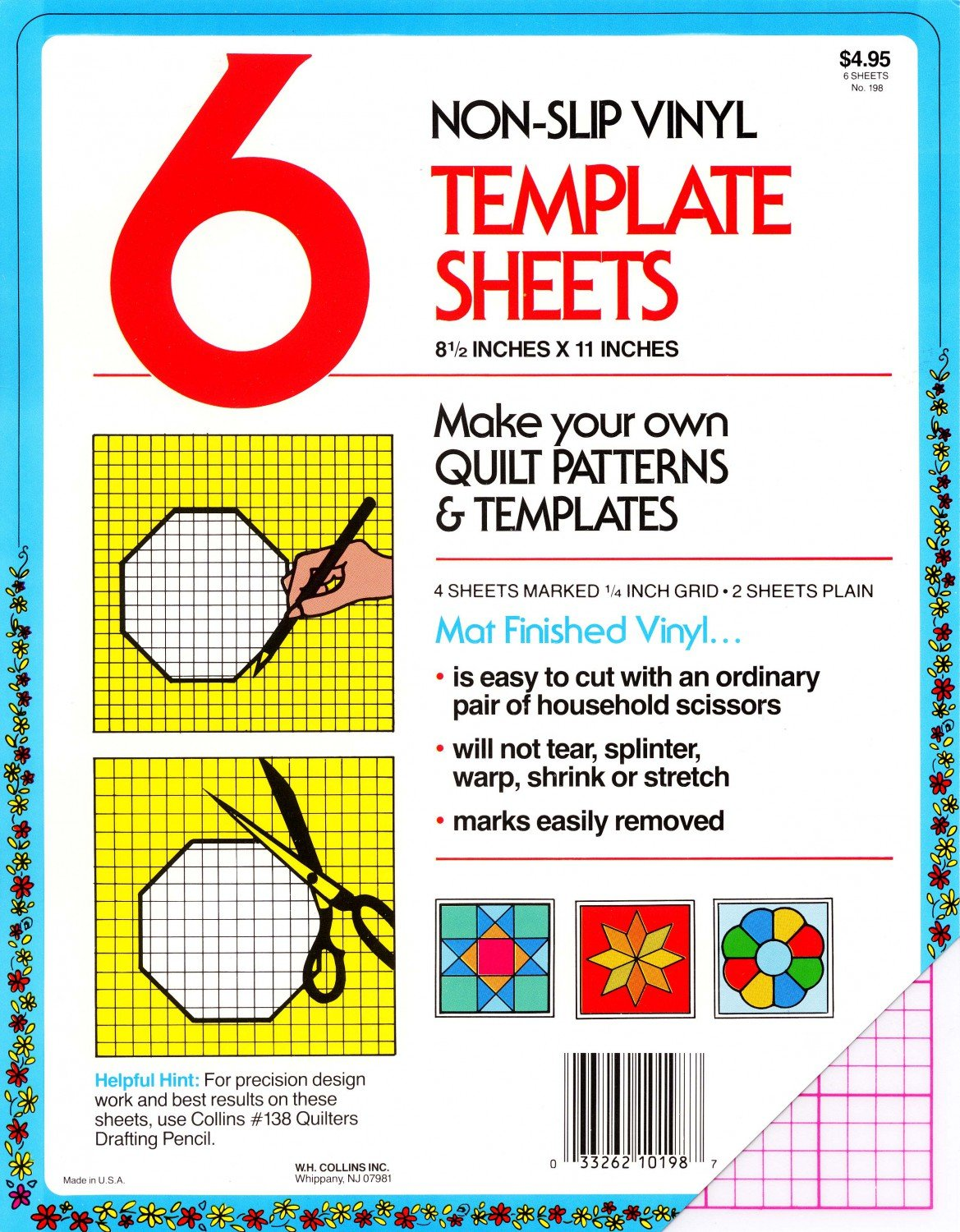 template sheets plastic 198c