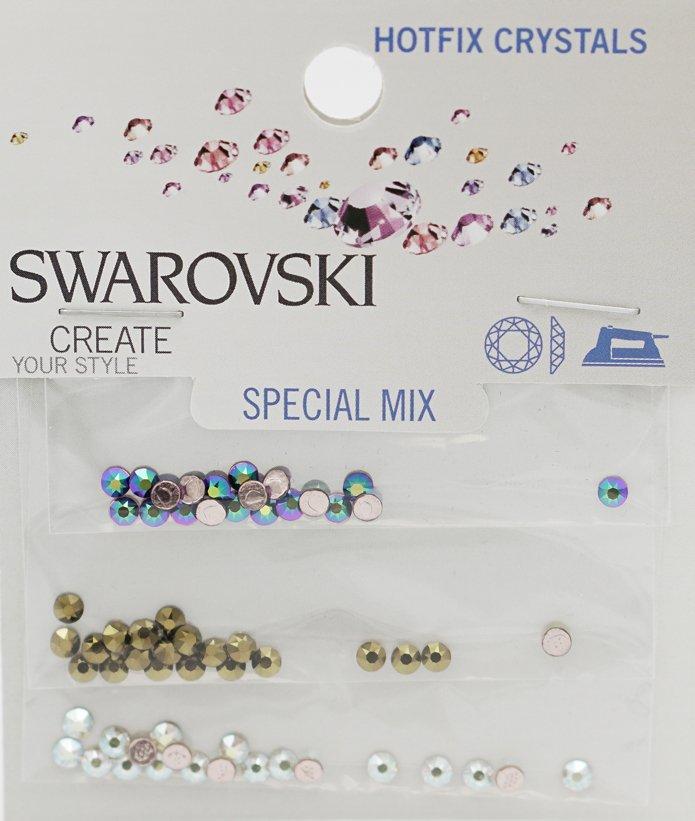 SWAROVSKI 5MM-6MM CRYSTAL, CRYSTAL ANTIQUE PINK MIX