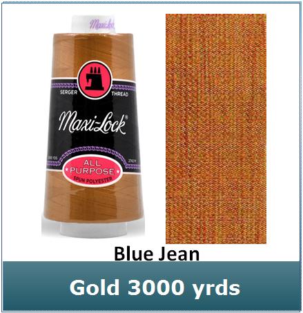 Maxi Lock Blue Jean Gold