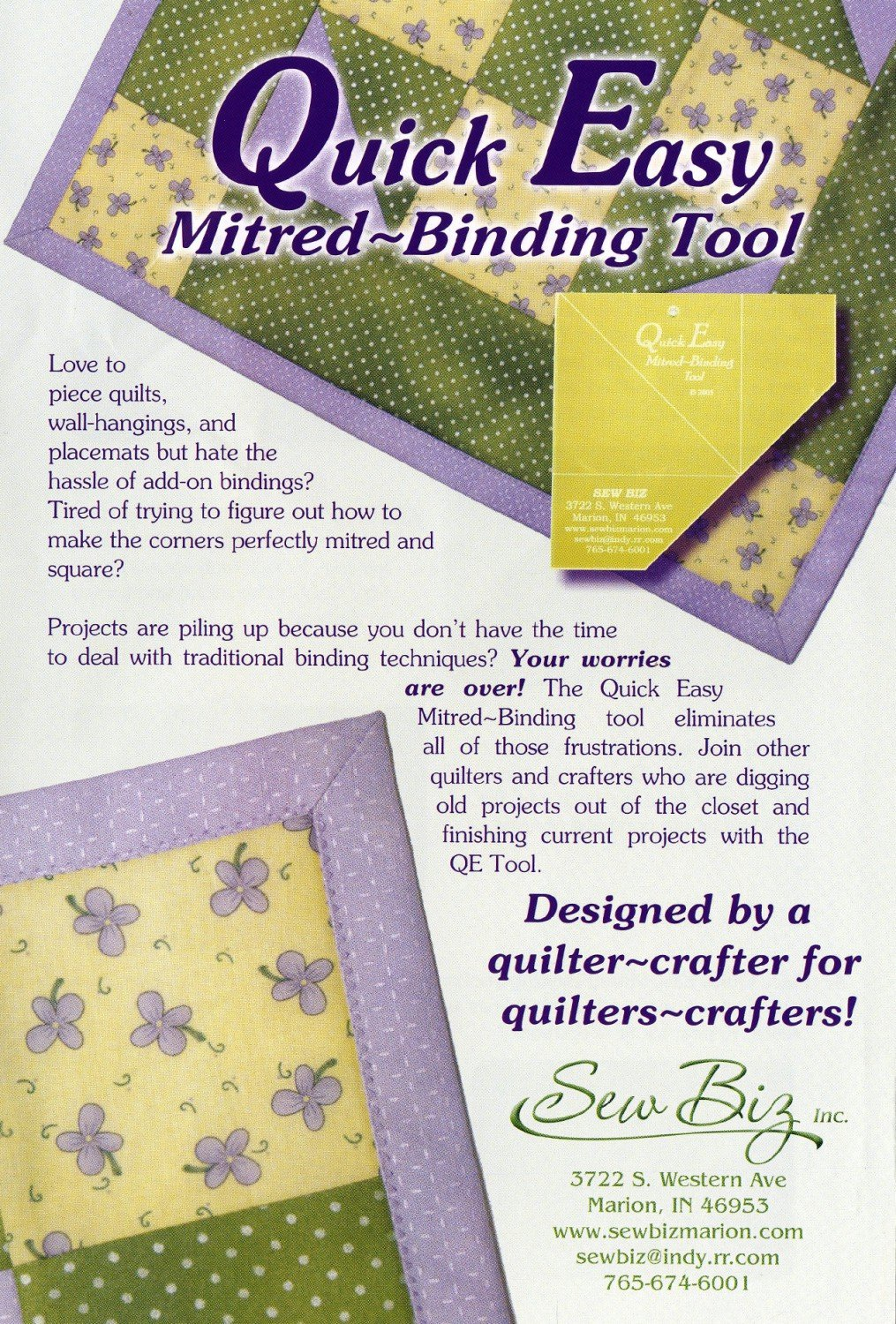 BINDING TOOL QUICK EASY MITERED