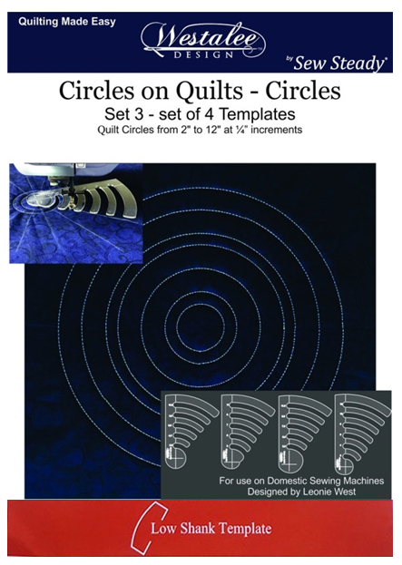 RULERWORK TEMPLATE CIRCLES ON QUILTS