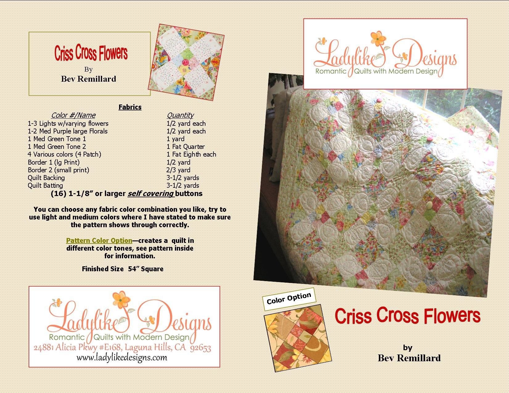 Criss Cross Flowers  Wholesale