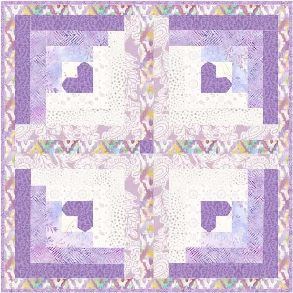 Candy Heart Digital pattern
