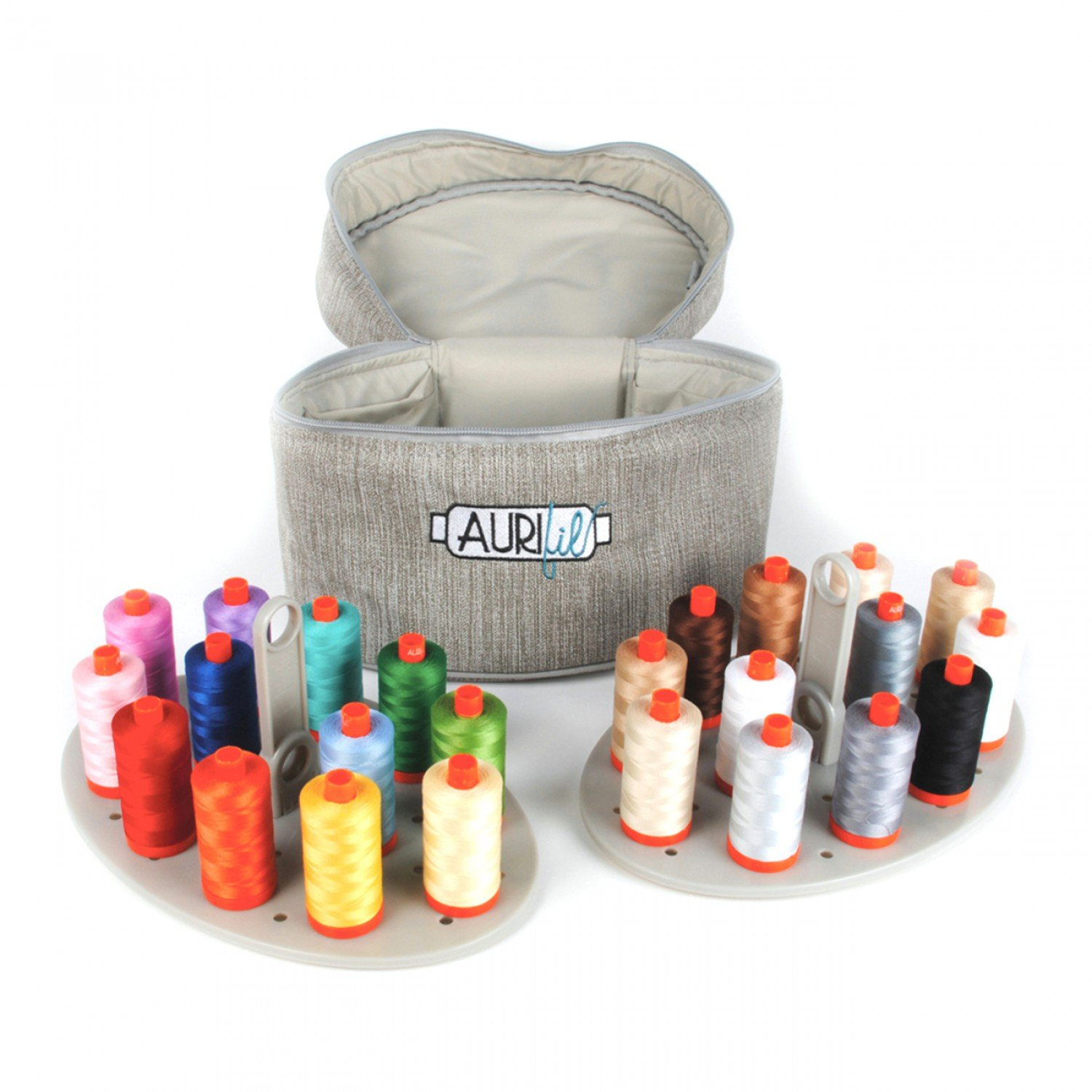 Aurifil Train Case with 24 Large 50wt. Spools