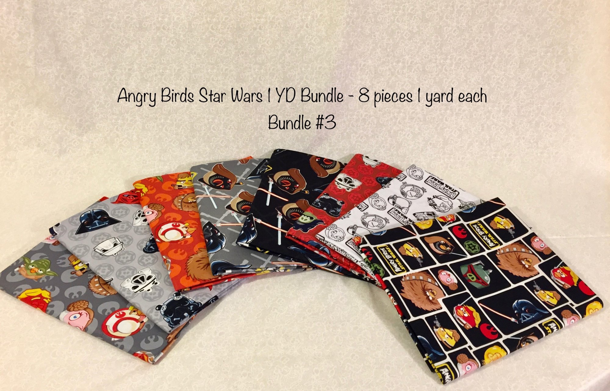 Angry Birds Star Wars ONE YARD Bundle - 8 pieces sku:B3