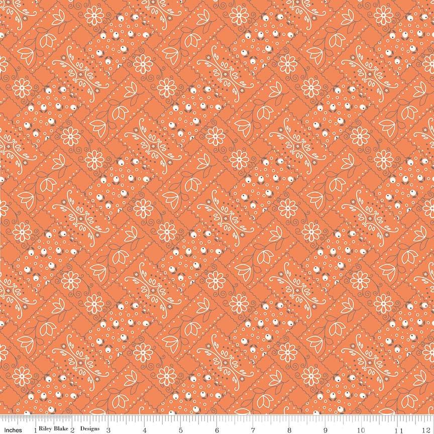 Farm Girl Vintage - Bandana in Orange by Lori Holt for Riley Blake Designs