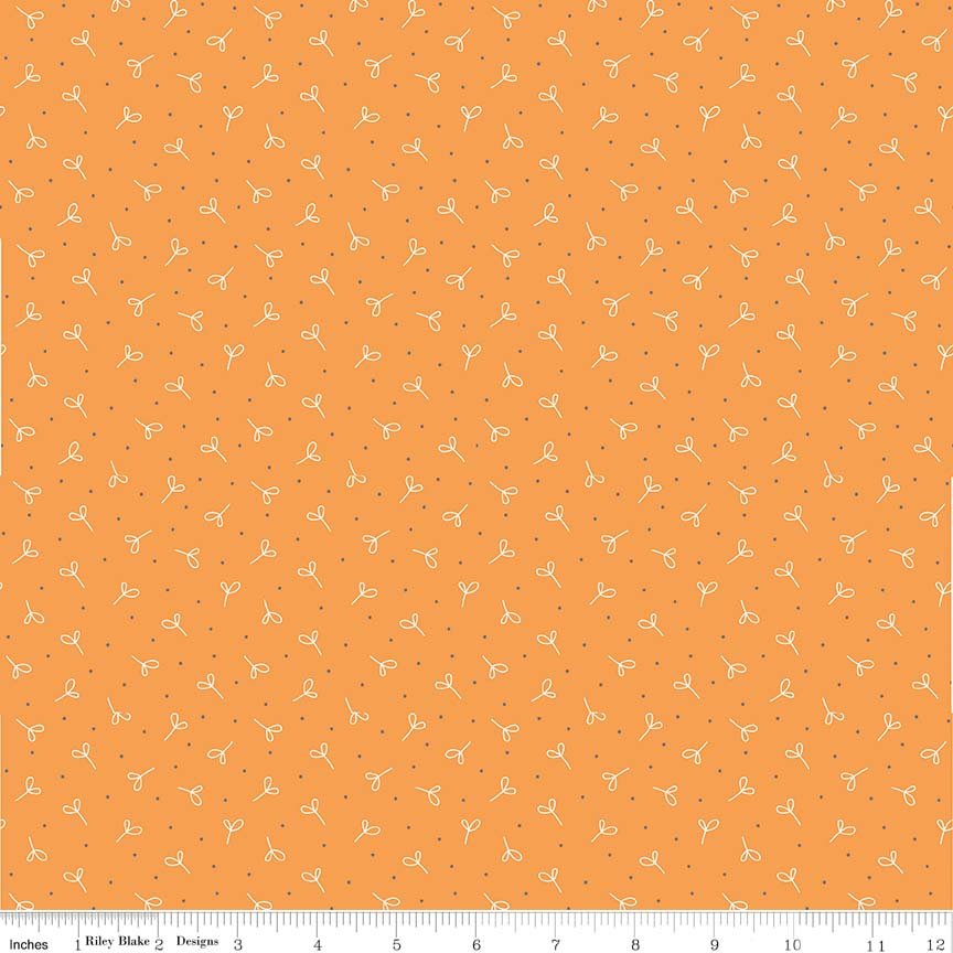 Farm Girl Vintage - Seedling in Orange by Lori Holt for Riley Blake Designs