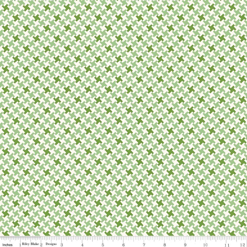 Farm Girl Vintage - Houndstooth in Green by Lori Holt for Riley Blake Designs