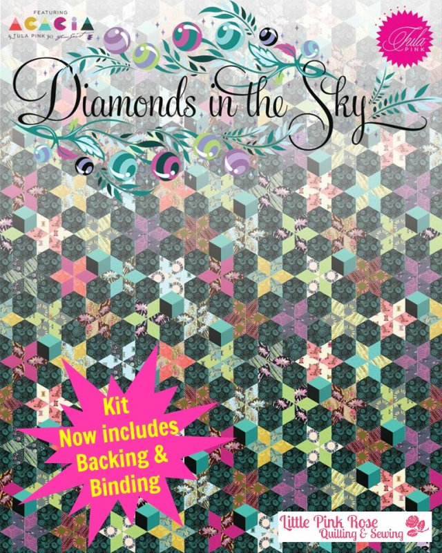 Diamonds in the Sky Pre-Cut English Paper Piecing Quilt Kit by ... : tula pink quilt kits - Adamdwight.com