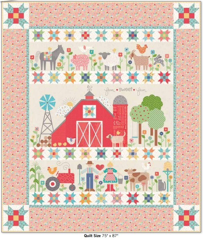 Farm Sweet Farm Quilt Kit by Lori Holt for Riley Blake Designs