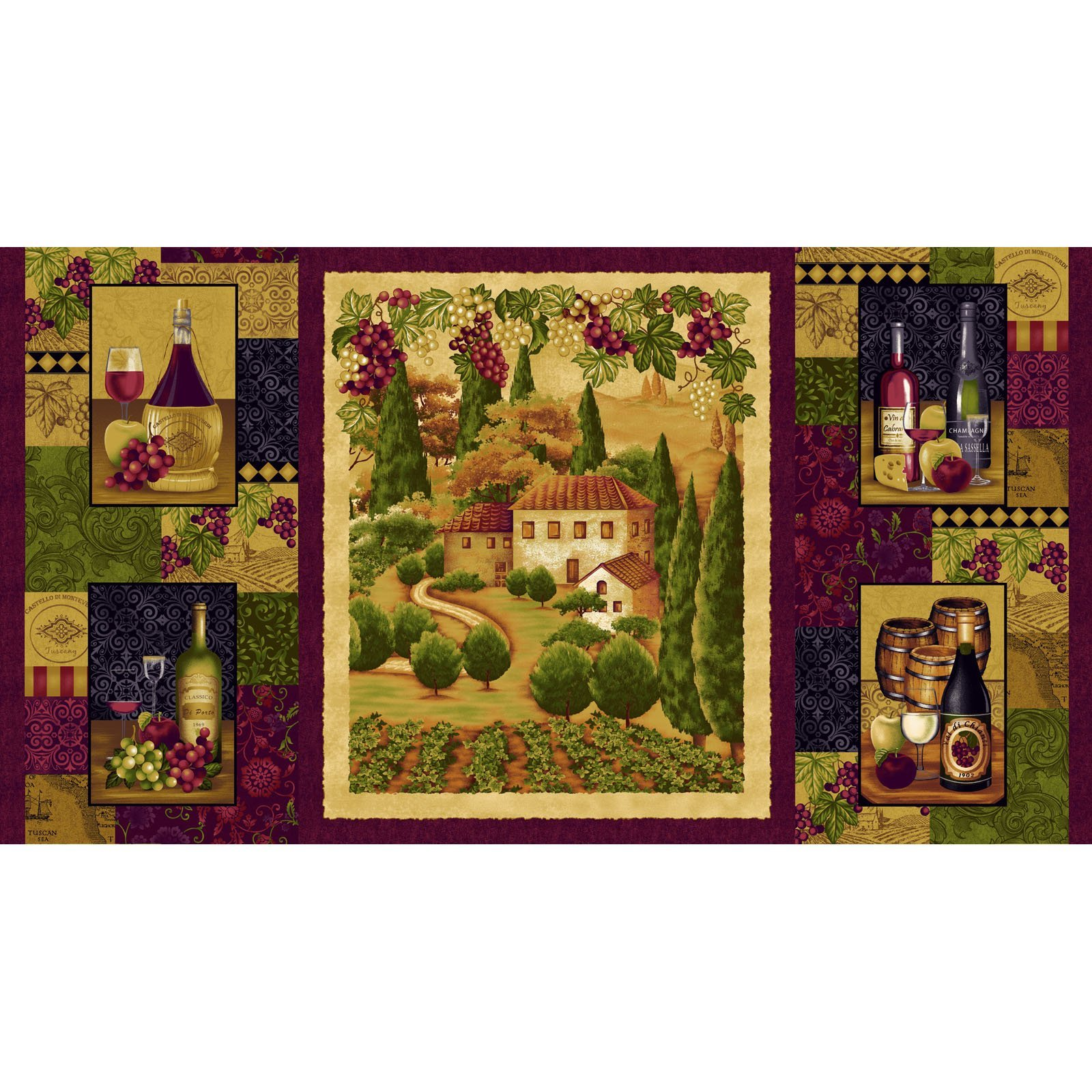 Tuscany Panel by Color Principle for Henry Glass & Co.
