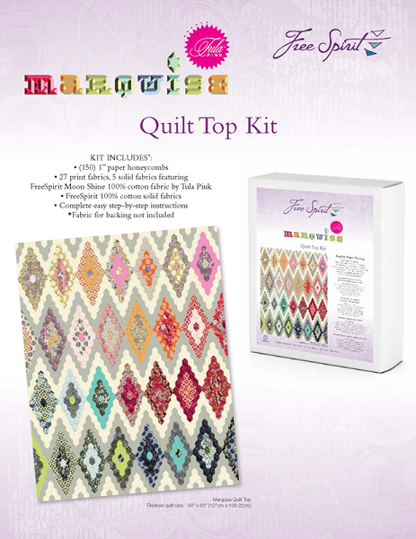 Marquise Pre-cut English Paper Piecing Quilt Top Kit by Tula Pink ... : tula pink quilt kits - Adamdwight.com