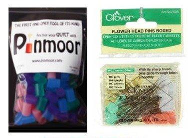 Basting Bundle - 100 Pinmoor Anchors & 100 Straight Pins - Various Colors