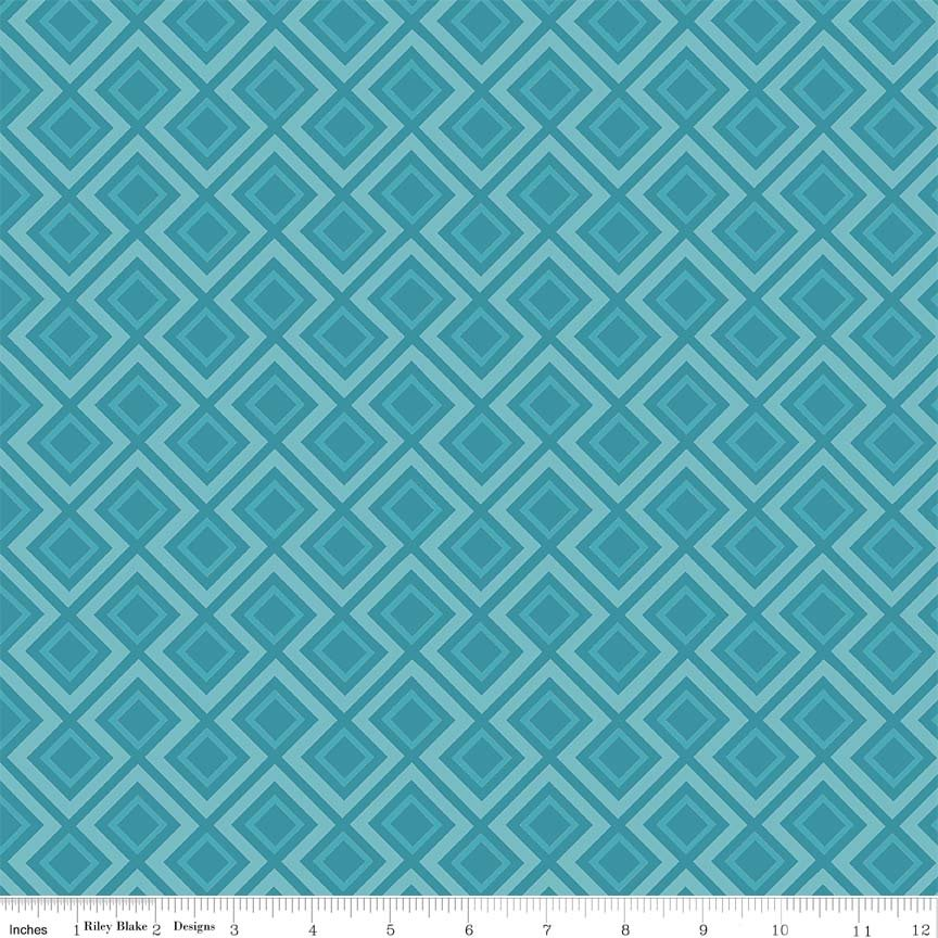 Fantine - Geometric in Blue by Lila Tueller for Riely Blake Designs