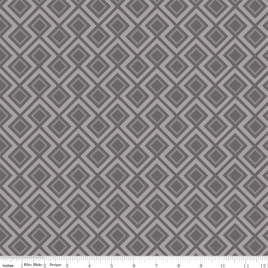 Fantine - Geometric in Gray by Lila Tueller for Riely Blake Designs