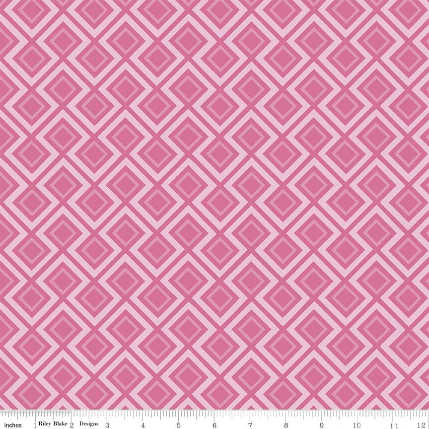 Fantine - Geometric in Pink by Lila Tueller for Riely Blake Designs