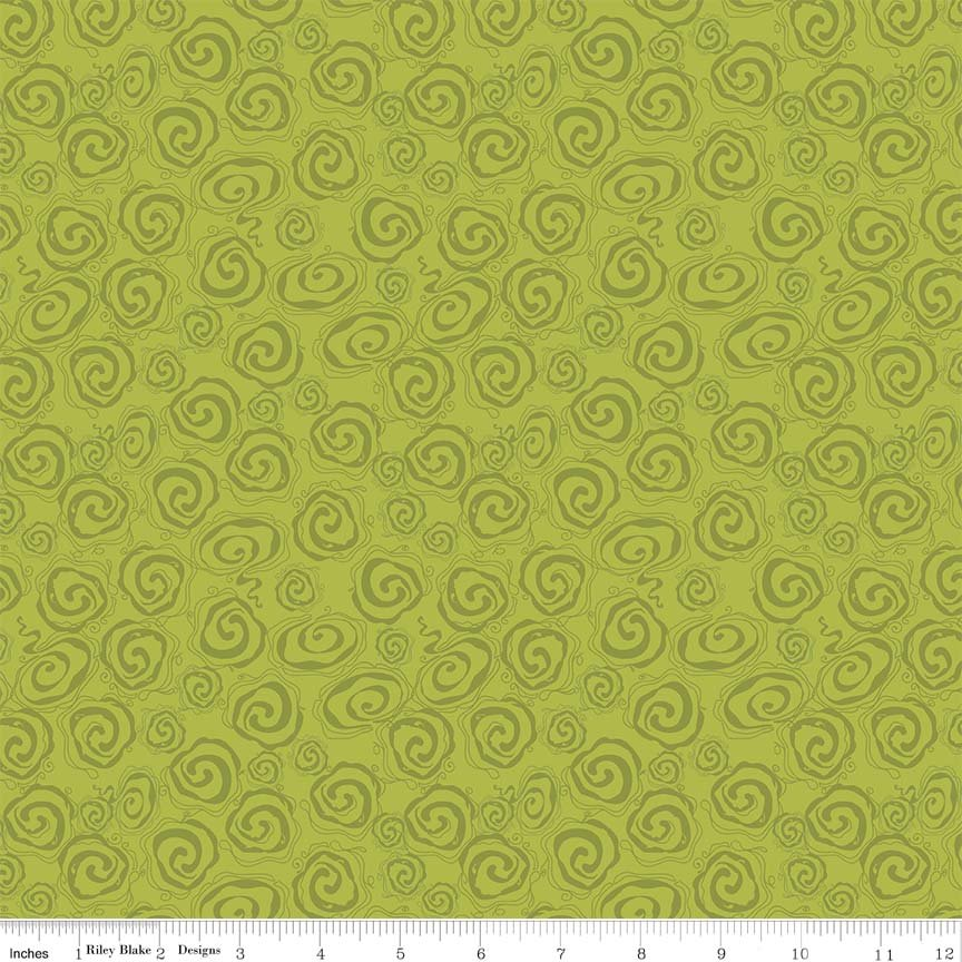 Fantine - Swirl in Green by Lila Tueller for Riely Blake Designs