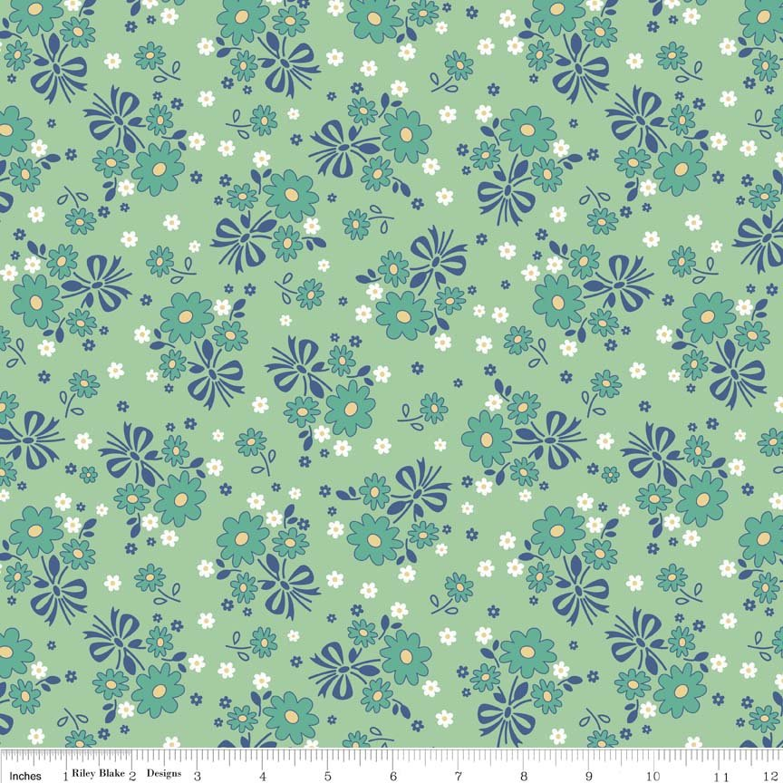 Calico Days - Main in Mint by Lori Holt for Riley Blake Designs
