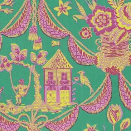 Sunny Isle - Kat in Green by Jennifer Paganelli for Free Spirit Fabrics