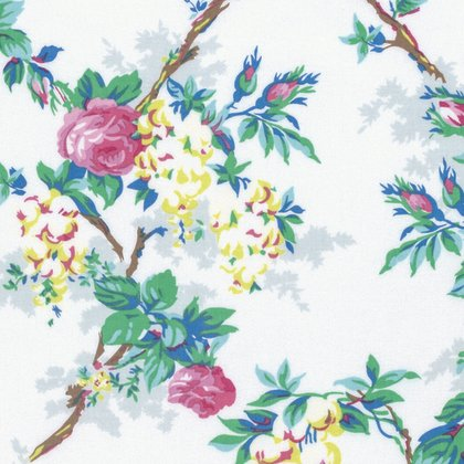 Sunny Isle - Garen in White by Jennifer Paganelli for Free Spirit Fabrics