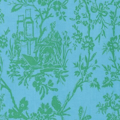 Sunny Isle - Amber in Green by Jennifer Paganelli for Free Spirit Fabrics
