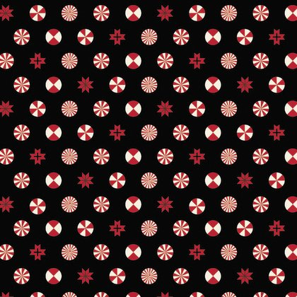 Holiday Homies - Peppermint Stars in Ink by Tula Pink for Free Spirit Fabric