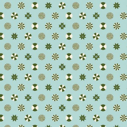 Holiday Homies - Peppermint Stars in Pine Fresh by Tula Pink for Free Spirit Fabric