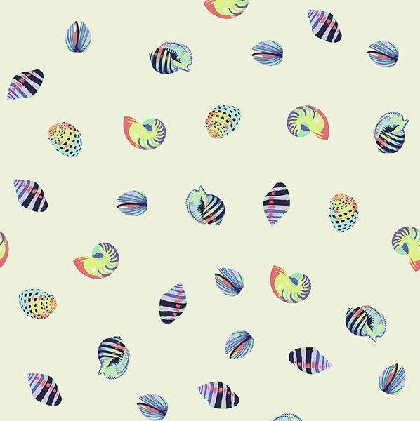 Zuma - Sea Shells in Aqua Marine by Tula Pink for Free Spirit Fabrics