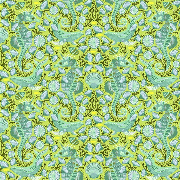 Zuma - Sea Stallion in Sea Glass by Tula Pink for Free Spirit Fabrics