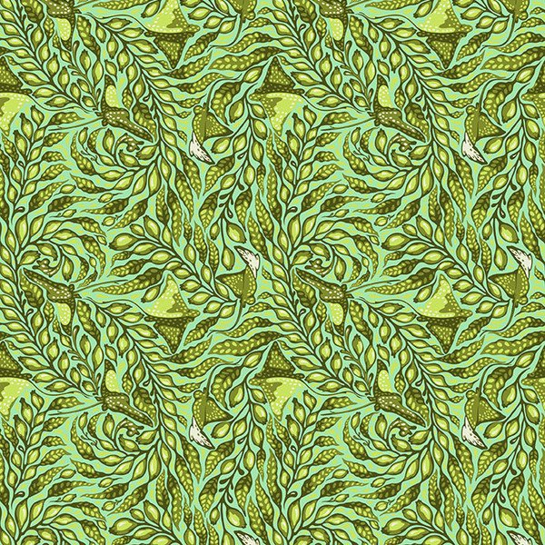 Zuma - Stingray in Sea Glass by Tula Pink for Free Spirit Fabrics
