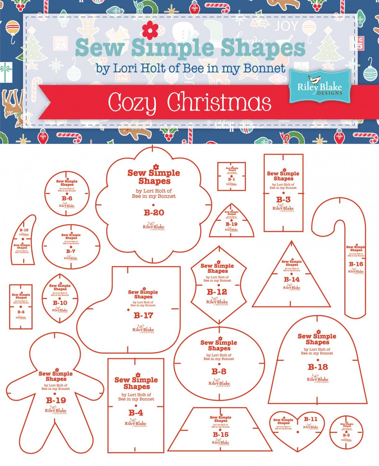 Cozy Christmas Templates - Bee In My Bonnet Sew Simple Shapes
