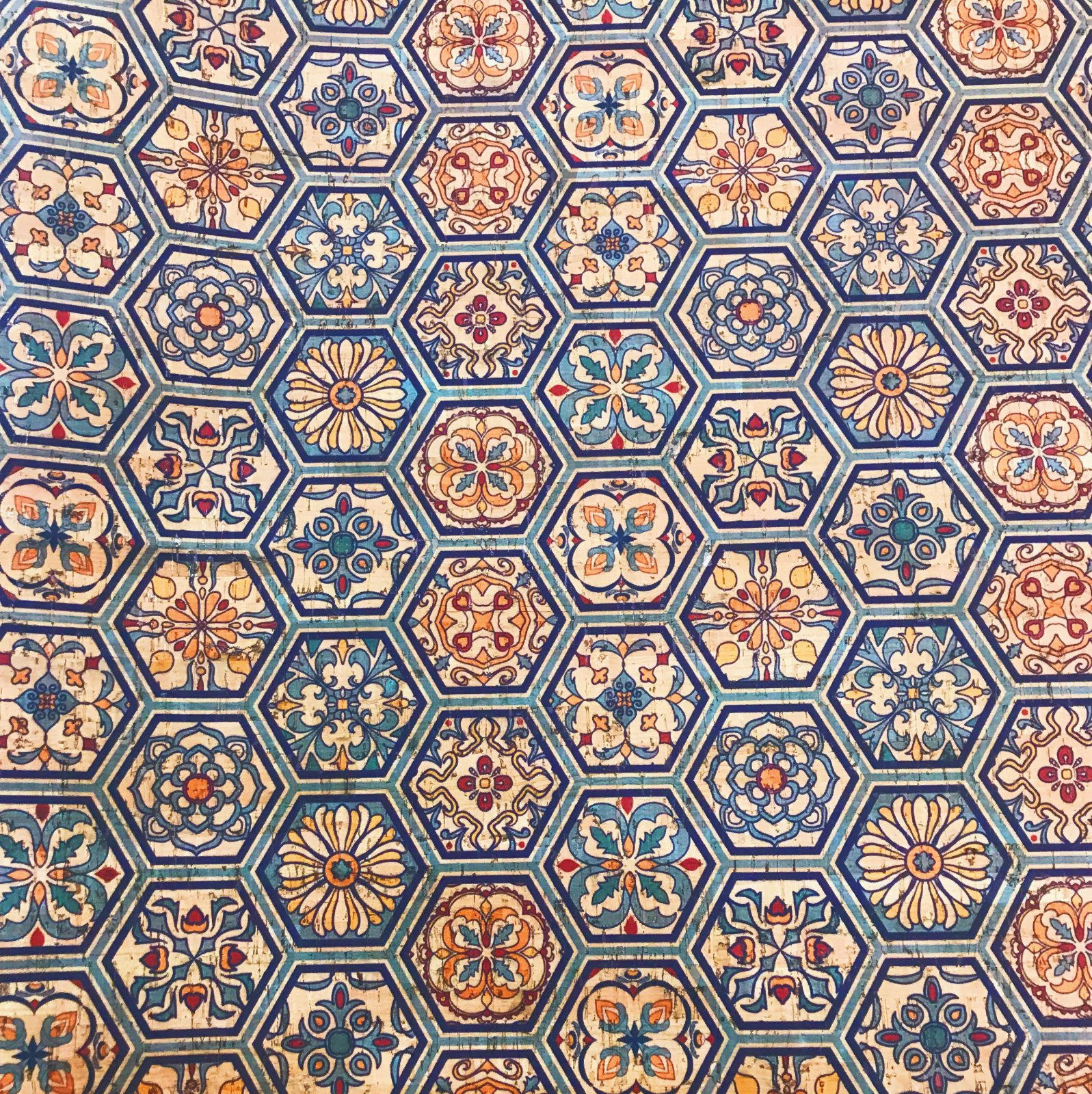 Goa Tiles Cork Fabric