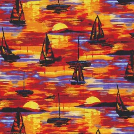 Portofino Sailboats Sunset