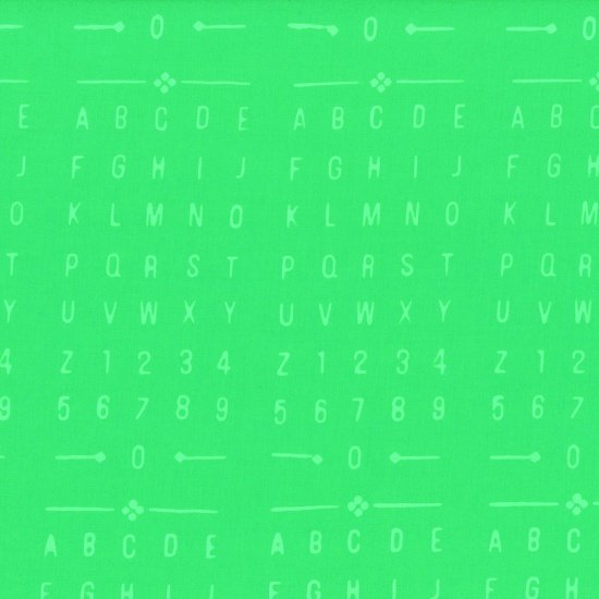 Indah Batik Gecko Numbers Letters Green