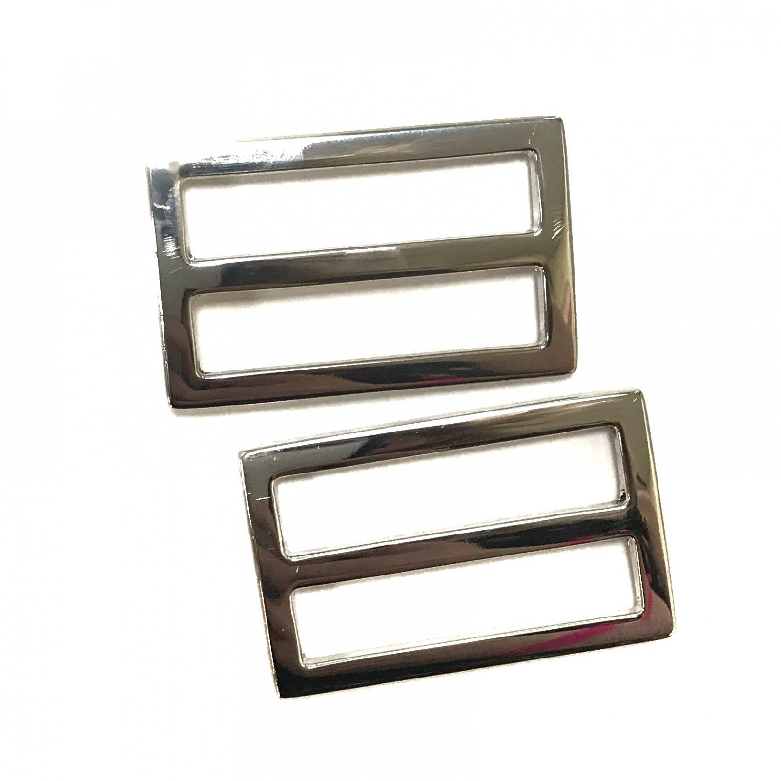 Rectangle Strap Slides- Set of 2 - 1 1/2