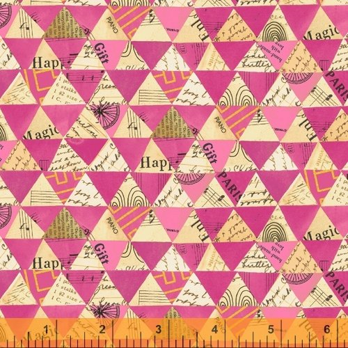 Hot Pink Collaged Triangle Wish