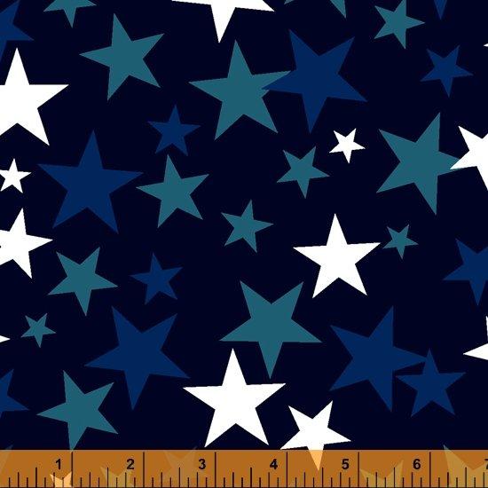 Blue Patriotic Stars 108in Wide Back